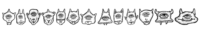 Cyclopia Regular Font LOWERCASE