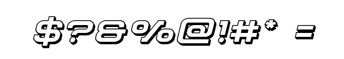 Cydonia Century 3D Italic Font OTHER CHARS