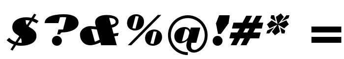 Cyklop-Italic Font OTHER CHARS