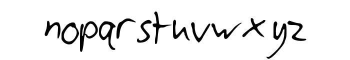 CyllsHandwriting Font LOWERCASE