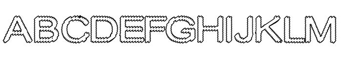 Cylonic Empty Font UPPERCASE
