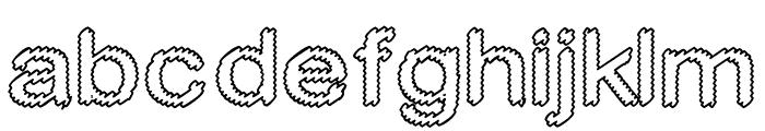 Cylonic Empty Font LOWERCASE