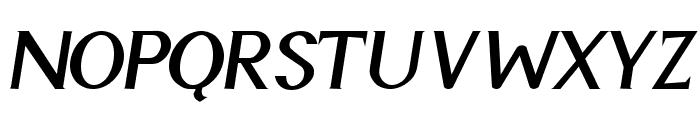 Cyn Italic Bold Font UPPERCASE