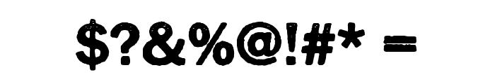 Cynocel Poster Regular Font OTHER CHARS