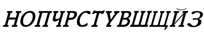 Cyrillic Italic Font UPPERCASE