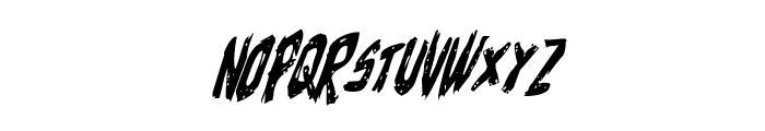 Cyrus the Virus Condensed Italic Font UPPERCASE
