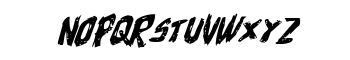 Cyrus the Virus Expanded Italic Font UPPERCASE