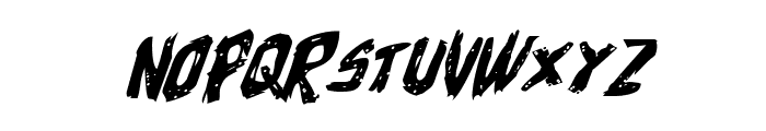 Cyrus the Virus Expanded Italic Font LOWERCASE