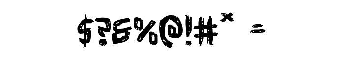 Cyrus the Virus Expanded Font OTHER CHARS