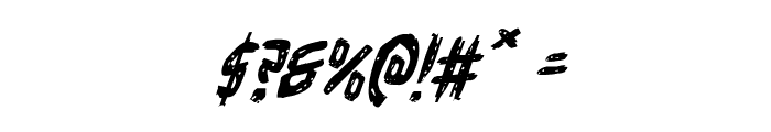 Cyrus the Virus Italic Font OTHER CHARS