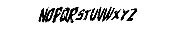 Cyrus the Virus Italic Font LOWERCASE