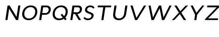 Cyntho Medium Italic Font UPPERCASE