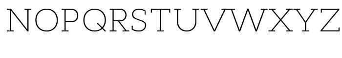 Cyntho Slab Extra Light Font UPPERCASE