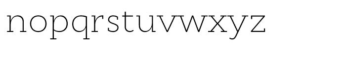 Cyntho Slab Extra Light Font LOWERCASE