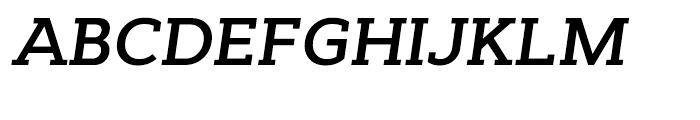 Cyntho Slab SemiBold Italic Font UPPERCASE