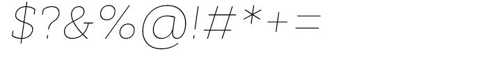 Cyntho Slab Thin Italic Font OTHER CHARS