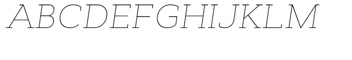 Cyntho Slab Thin Italic Font UPPERCASE