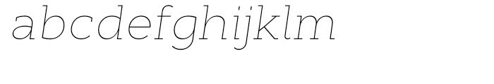 Cyntho Slab Thin Italic Font LOWERCASE