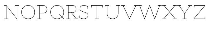 Cyntho Slab Thin Font UPPERCASE