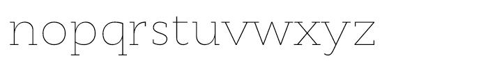 Cyntho Slab Thin Font LOWERCASE