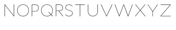 Cyntho Thin Font UPPERCASE