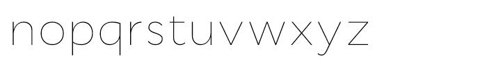 Cyntho Thin Font LOWERCASE