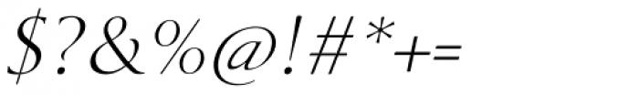 Cyan Light Italic Font OTHER CHARS