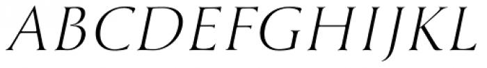 Cyan Light Italic Font UPPERCASE