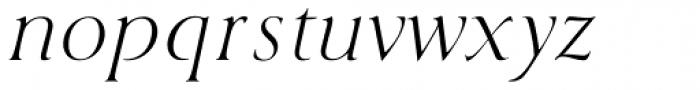 Cyan Light Italic Font LOWERCASE
