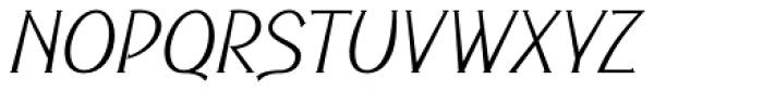 Cyceon Pro Light Msc Italic Font UPPERCASE