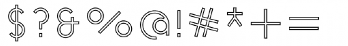 Cycladic Outline Font OTHER CHARS