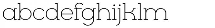 Cyclic Light Font LOWERCASE