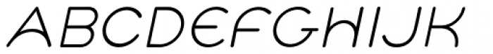 Cyclo Italic Font UPPERCASE