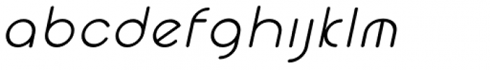 Cyclo Italic Font LOWERCASE