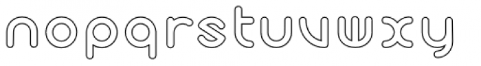 Cyclo Outline Font LOWERCASE
