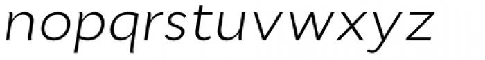 Cyntho Pro Light Italic Font LOWERCASE