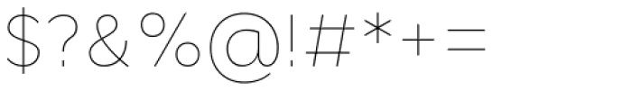 Cyntho Pro Thin Font OTHER CHARS