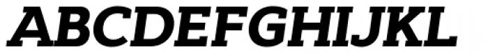 Cyntho Slab Pro Black Italic Font UPPERCASE