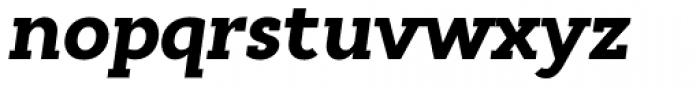 Cyntho Slab Pro Black Italic Font LOWERCASE