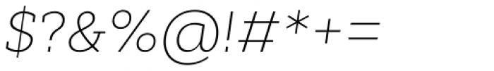 Cyntho Slab Pro ExtraLight Italic Font OTHER CHARS