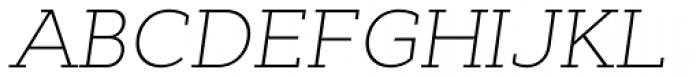 Cyntho Slab Pro ExtraLight Italic Font UPPERCASE