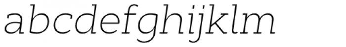 Cyntho Slab Pro ExtraLight Italic Font LOWERCASE
