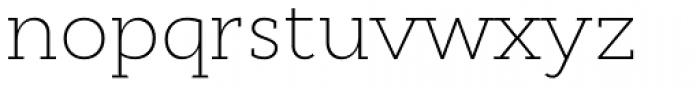 Cyntho Slab Pro ExtraLight Font LOWERCASE