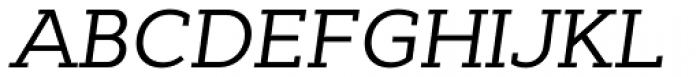 Cyntho Slab Pro Italic Font UPPERCASE