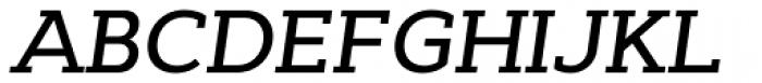 Cyntho Slab Pro Medium Italic Font UPPERCASE