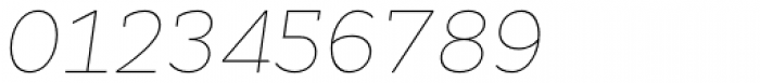 Cyntho Slab Pro Thin Italic Font OTHER CHARS