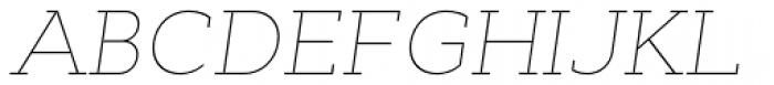 Cyntho Slab Pro Thin Italic Font UPPERCASE
