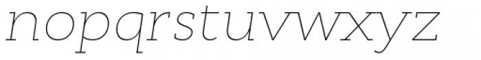 Cyntho Slab Pro Thin Italic Font LOWERCASE