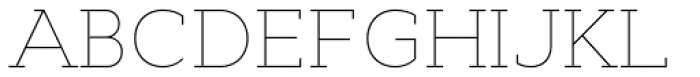 Cyntho Slab Pro Thin Font UPPERCASE