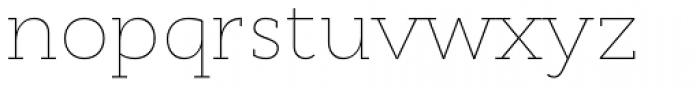 Cyntho Slab Pro Thin Font LOWERCASE